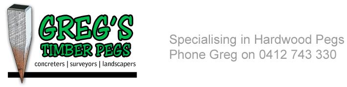 Gregs Timber Pegs Logo